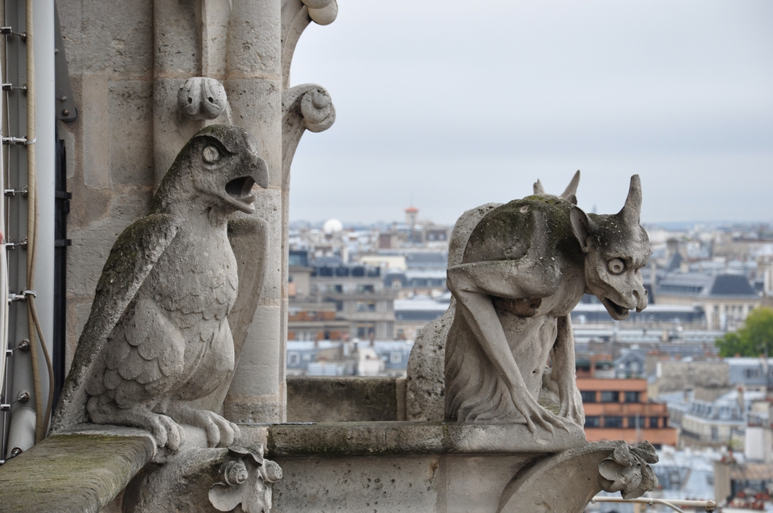 Cathedral of Notre Dame Gargoyles Gargoyles on The Notre Dame